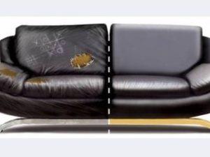 Перетяжка кожаного дивана в Одинцово