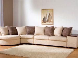 Перетяжка углового дивана на дому в Одинцово